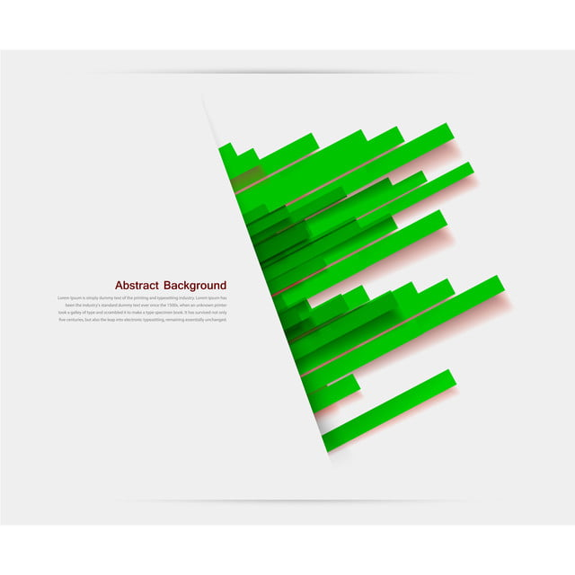 Vector Abstract Background With White Cut Paper And Green Stripes