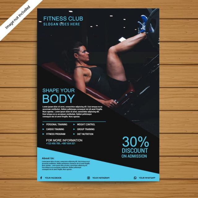 Gym Brochure/Flyer Template Template for Free Download on Pngtree