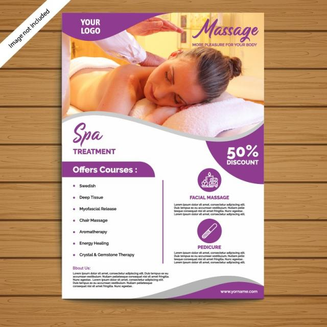 Spa Brochure/Flyer Template Template for Free Download on Pngtree