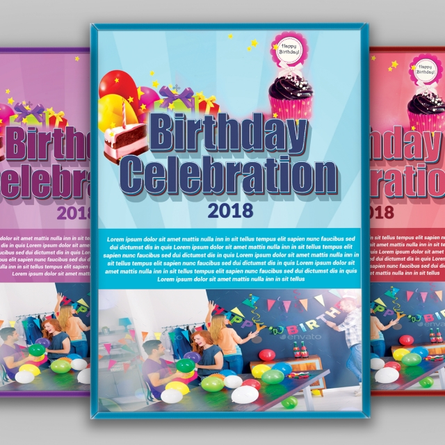 birthday invitation flyer Template for Free Download on Pngtree
