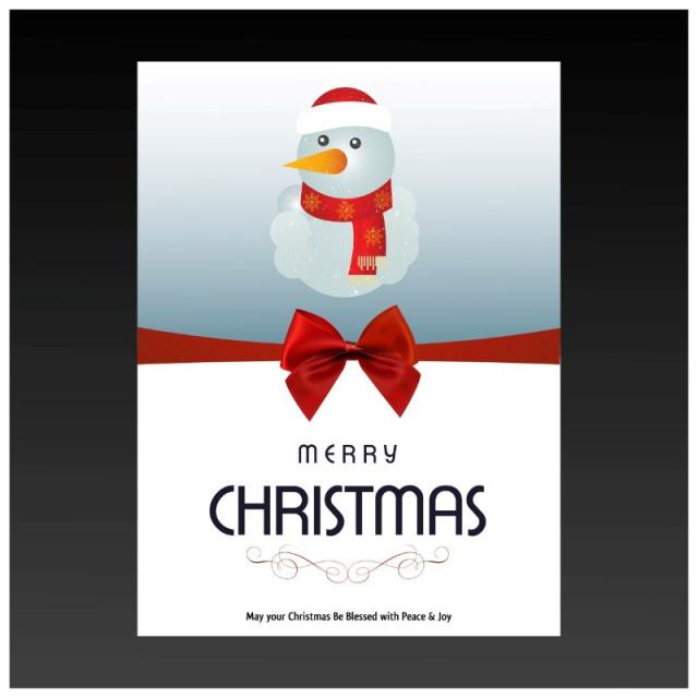 christmas card with snowman Template for Free Download on Pngtree
