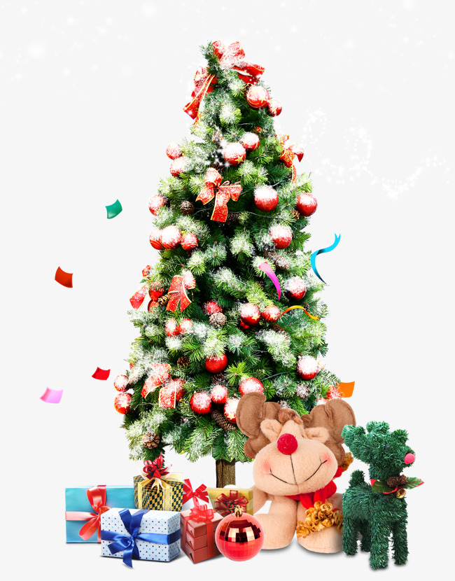 Christmas Tree, Tree Clipart, Gift PNG and PSD File for Free Download