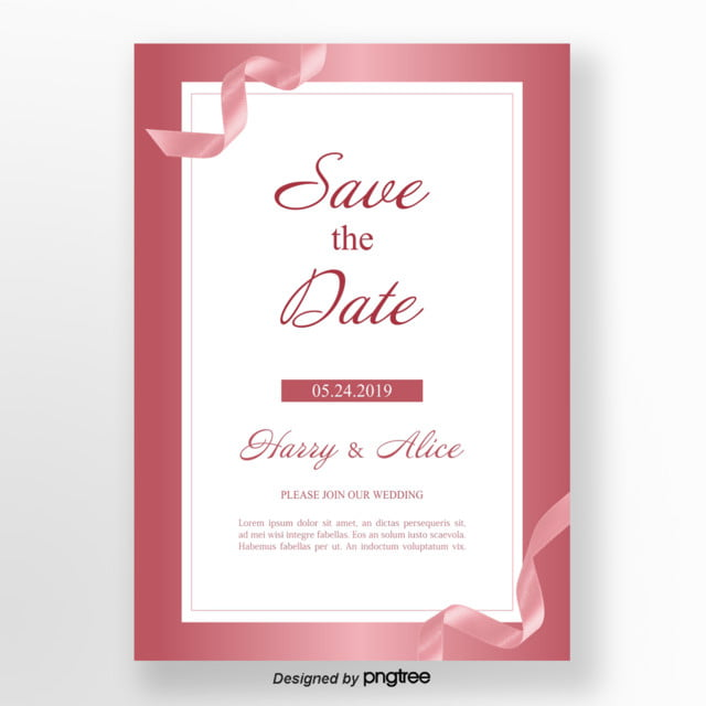 Rose Golden Delicate Wedding Anniversary Card Template for Free