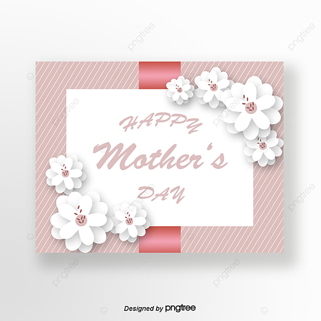 Pure Flowers in Pink Origami Style Mothers Day Greeting Card