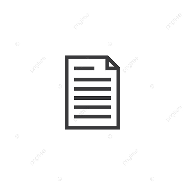 document paper outline icon isolated note paper icon in thin line