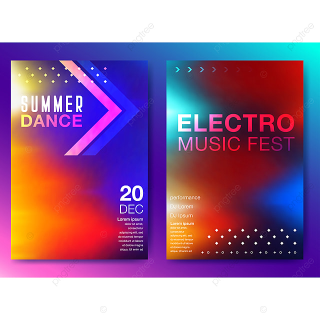 Electronic music fest and electro summer poster Template for Free