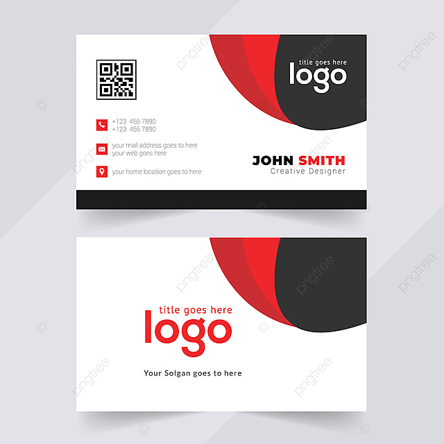 Red and black colour business card design, with an unique concept