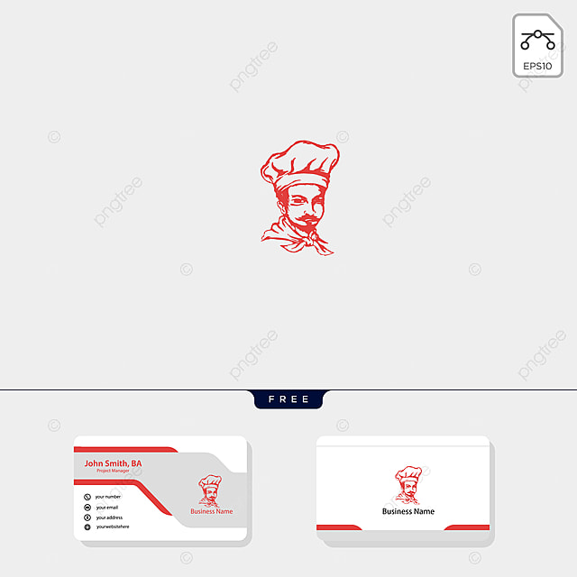 chef logo template illustration,free business card design template
