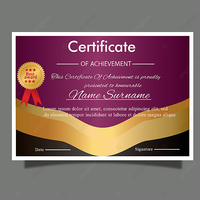 Creative royal Certificate template with luxury gold for award or