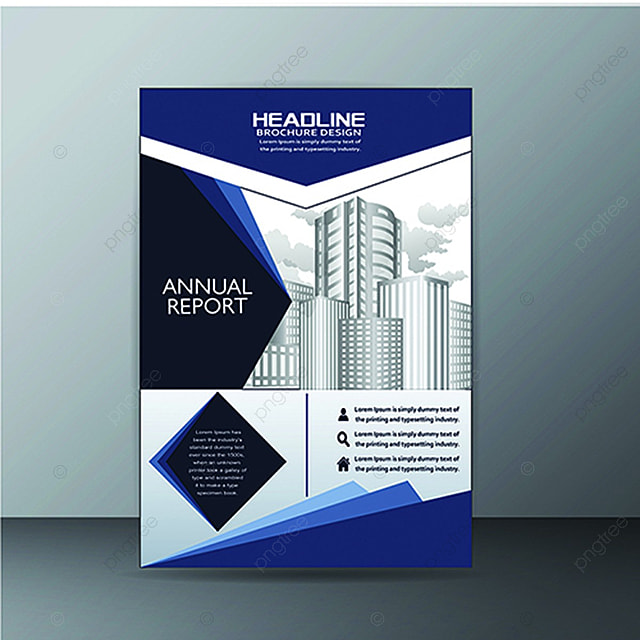 Blue Vector Business Brochure Template Template Free Download on - architecture brochure template