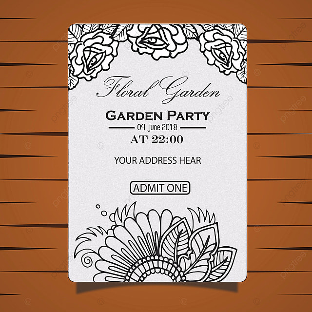 garden party invitation card Template for Free Download on Pngtree
