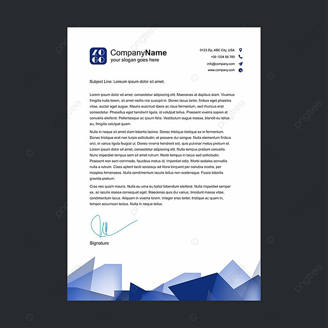 business letterhead Template for Free Download on Pngtree - business letterhead