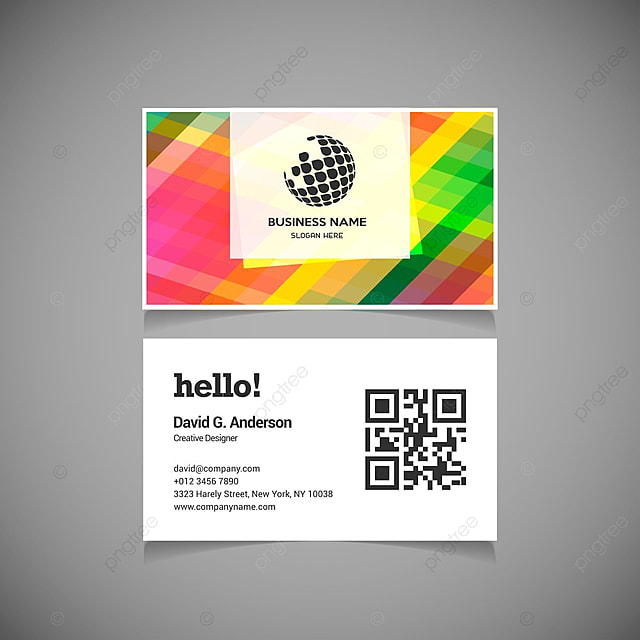 rainbow business cards Template for Free Download on Pngtree
