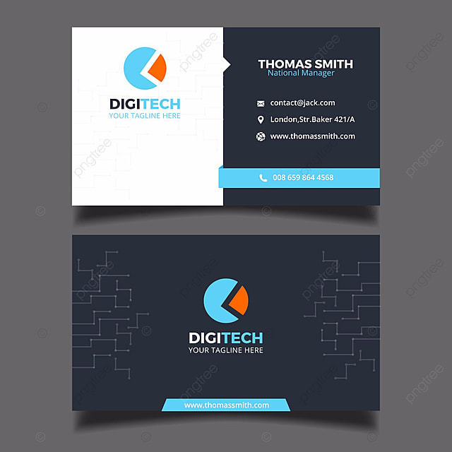 digital business card tempalte Template for Free Download on Pngtree