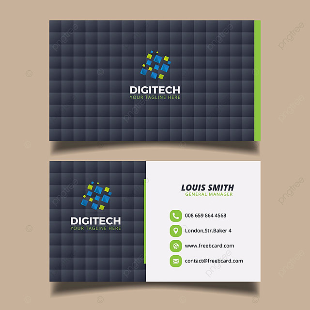 digital business card template Template for Free Download on Pngtree