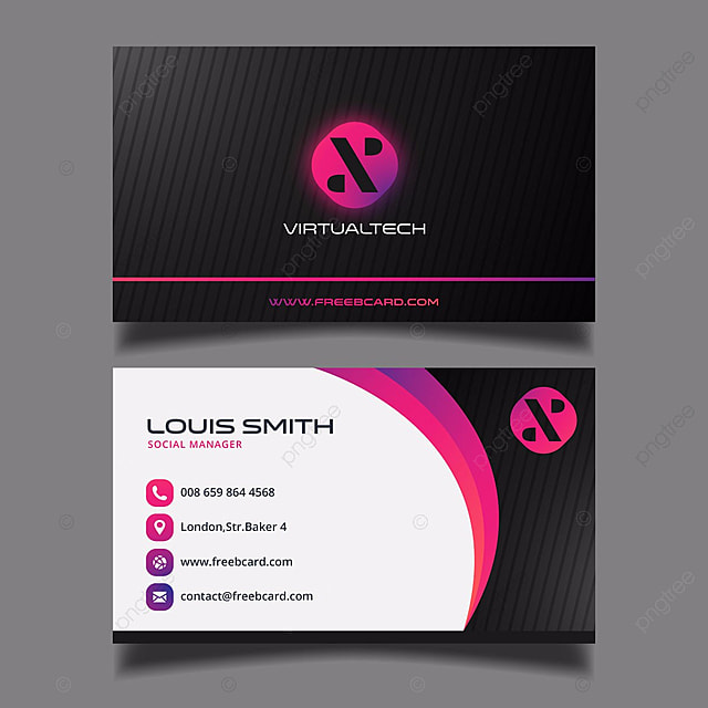Black and purple business card Template for Free Download on Pngtree