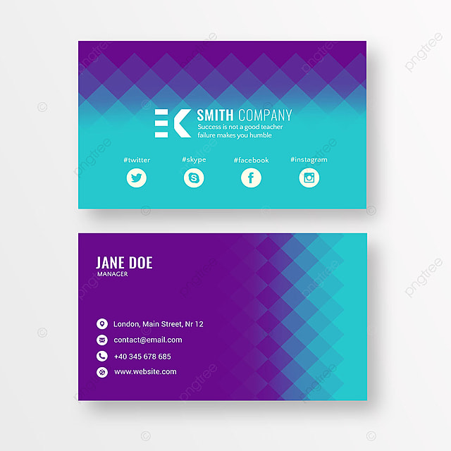 modern purple business card Template for Free Download on Pngtree