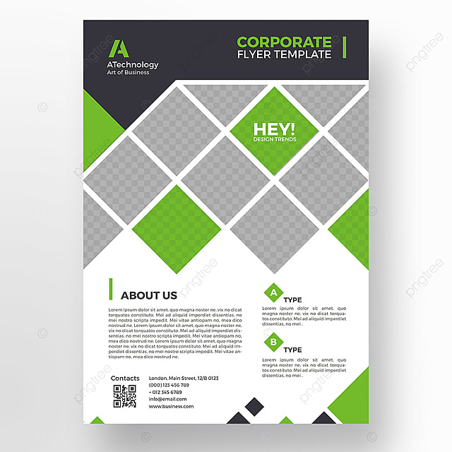 Green minimal flyer template Template for Free Download on Pngtree - flyer template