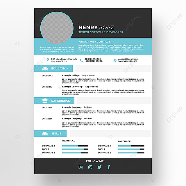 Resume PSD, 518 Photoshop Graphic Resources for Free Download