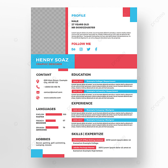 creative resume template Template for Free Download on Pngtree - creative resume templates for free