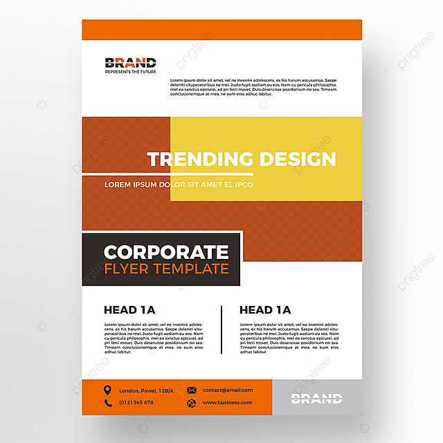 yellow creative flyer template Template for Free Download on Pngtree - flyer template