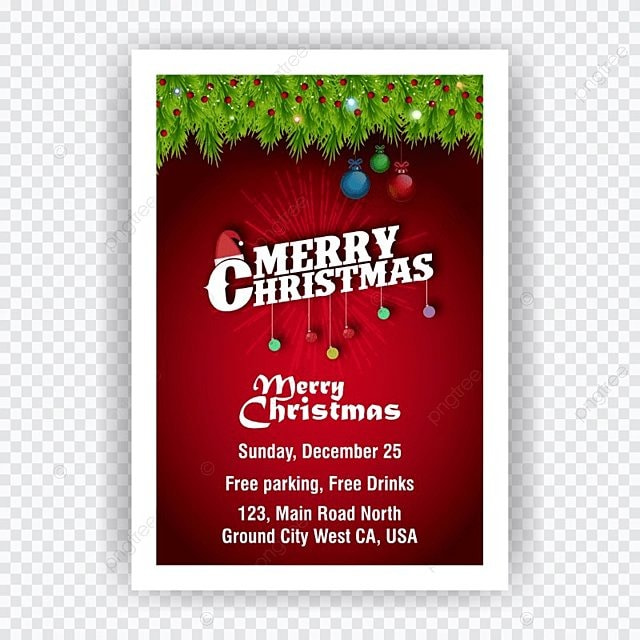 christmas invitation card Template for Free Download on Pngtree - free templates christmas invitations