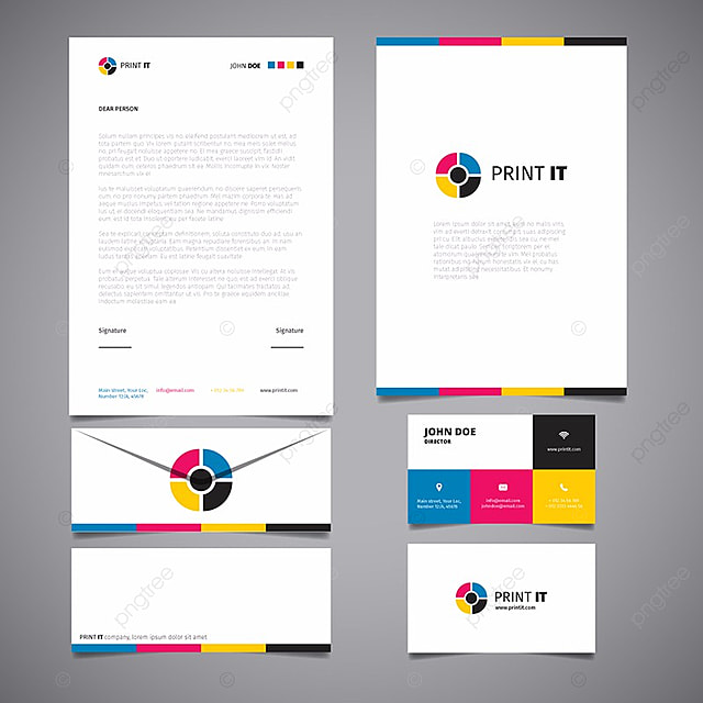 bright corporate stationery template Template for Free Download on