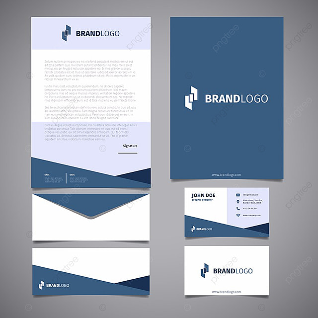 corporate stationery template Template for Free Download on Pngtree