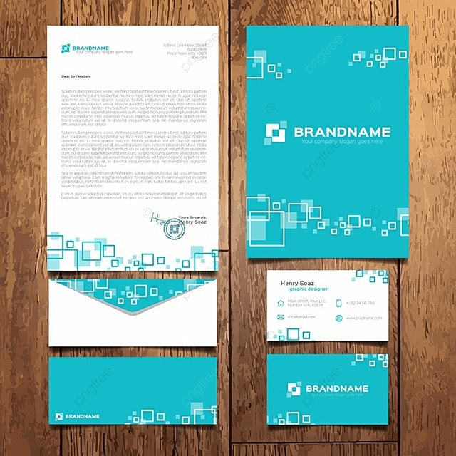 blue corporate stationery template Template for Free Download on Pngtree