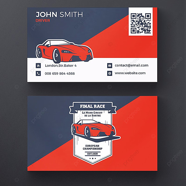 sport car business card template Template for Free Download on Pngtree
