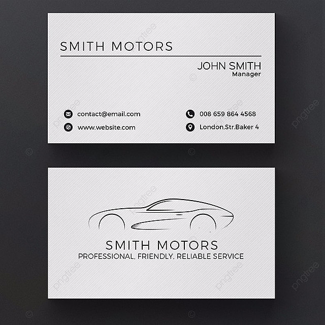 car service business card template Template for Free Download on Pngtree
