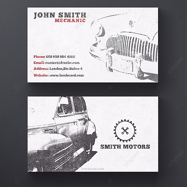 vintage car business card template Template for Free Download on Pngtree