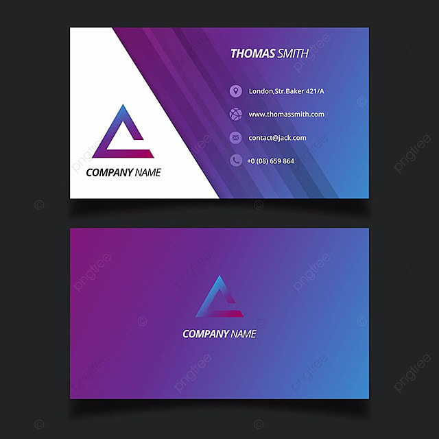purple business card template Template for Free Download on Pngtree
