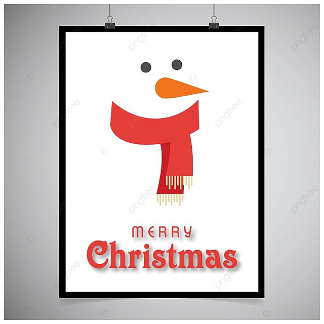 merry christmas card with snow man Template for Free Download on Pngtree