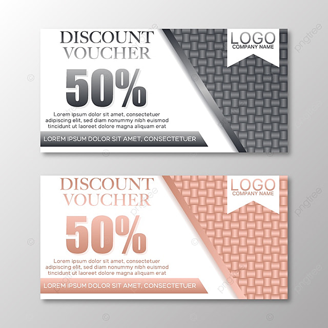 gift voucher template with silver and gold pattern vector