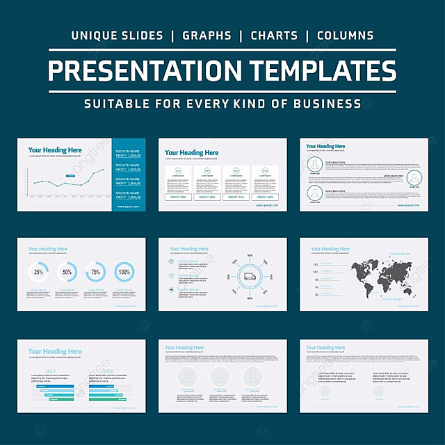 business presentation template Template for Free Download on Pngtree