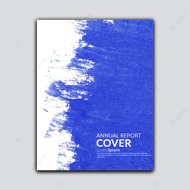 water color annual report cover Template for Free Download on Pngtree