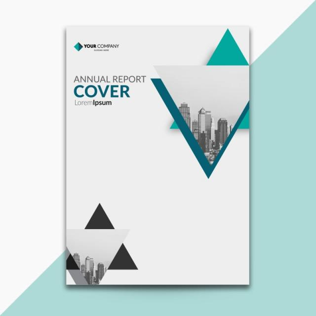 and grey annual report cover Template for Free Download on Pngtree