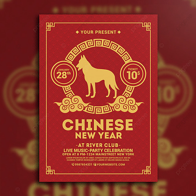 chinese new year flyer Template for Free Download on Pngtree - new year poster template