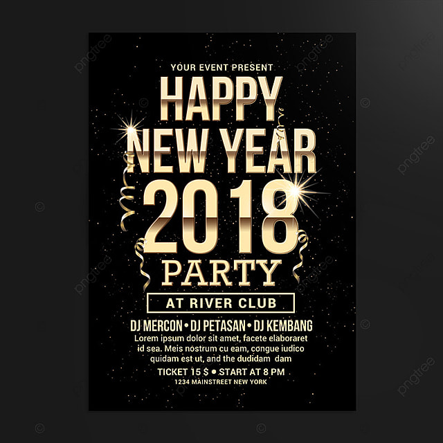 new year flyer Template for Free Download on Pngtree - new year poster template