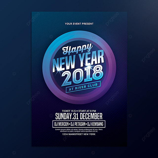 new year poster Template for Free Download on Pngtree - new year poster template