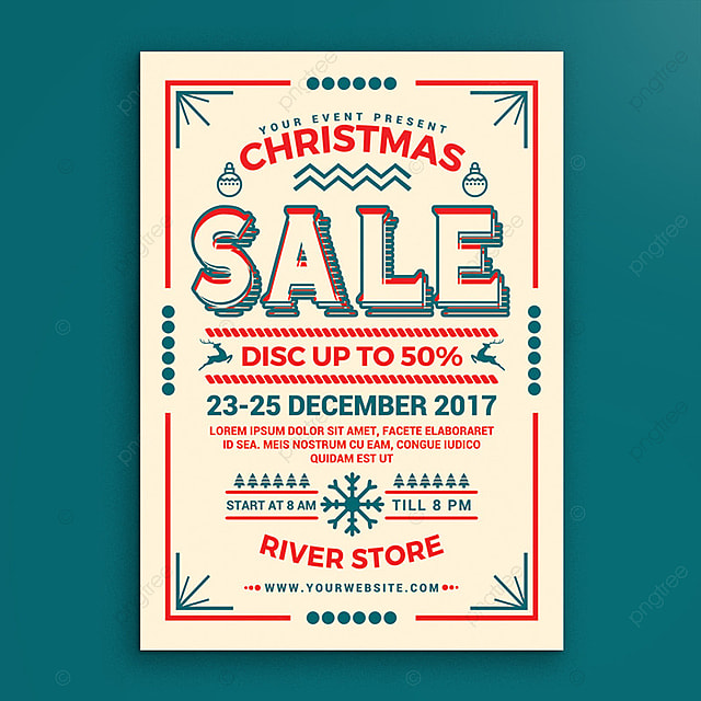 christmas sale poster Template for Free Download on Pngtree - for sale poster template