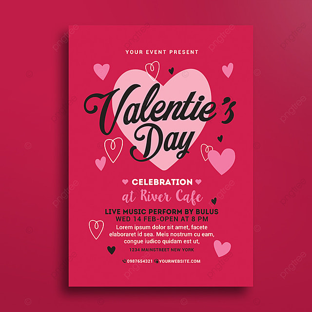 valentines day flyer Template for Free Download on Pngtree