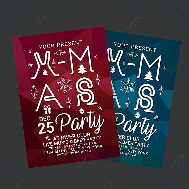 christmas party poster Template for Free Download on Pngtree