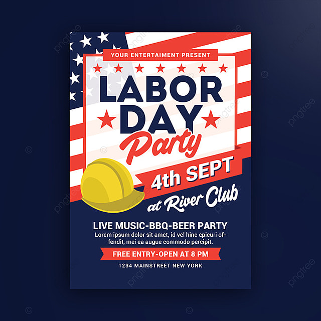 Labor Day Party Poster Template for Free Download on Pngtree - labour day flyer template