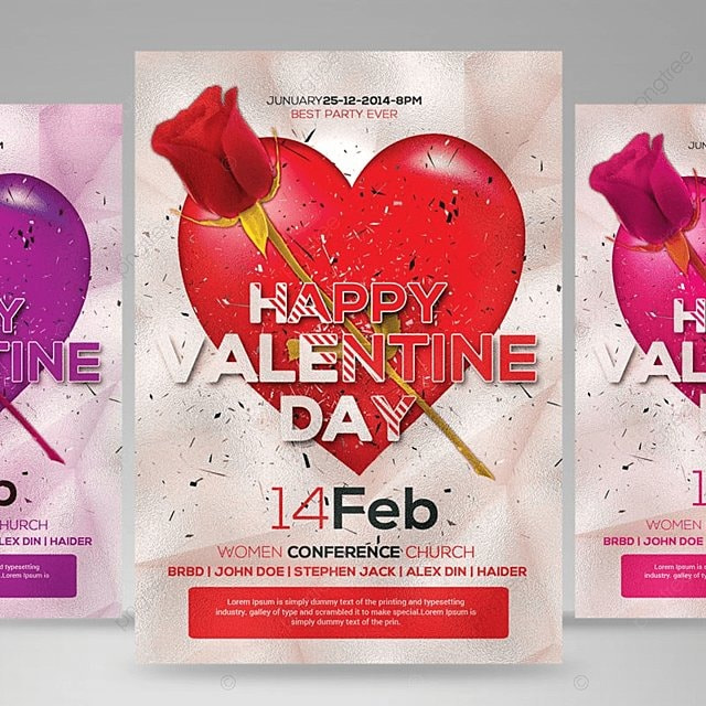 valentine day flyer Template for Free Download on Pngtree
