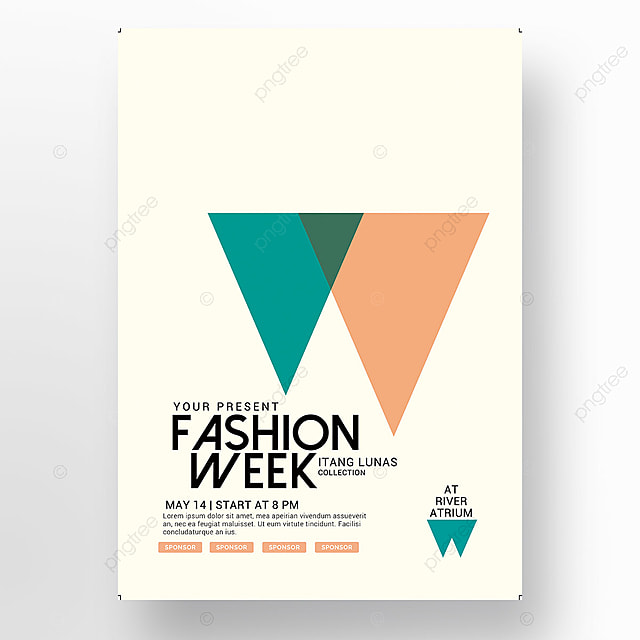 Fashion Week Poster Template for Free Download on Pngtree