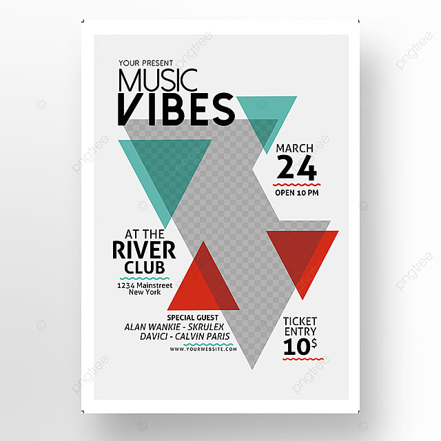 Minimal Music Flyer Template Template for Free Download on Pngtree - music flyer template