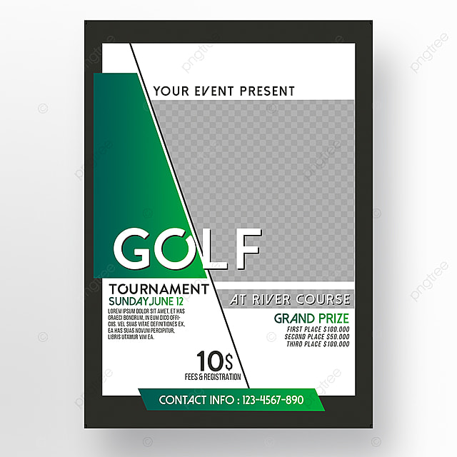 Golf Tournament Flyer Tamplate Template for Free Download on Pngtree - golf tournament flyer template