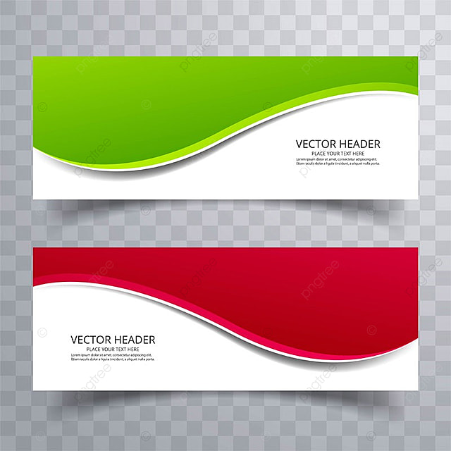 Abstract web banner design or header Templates with wave Template